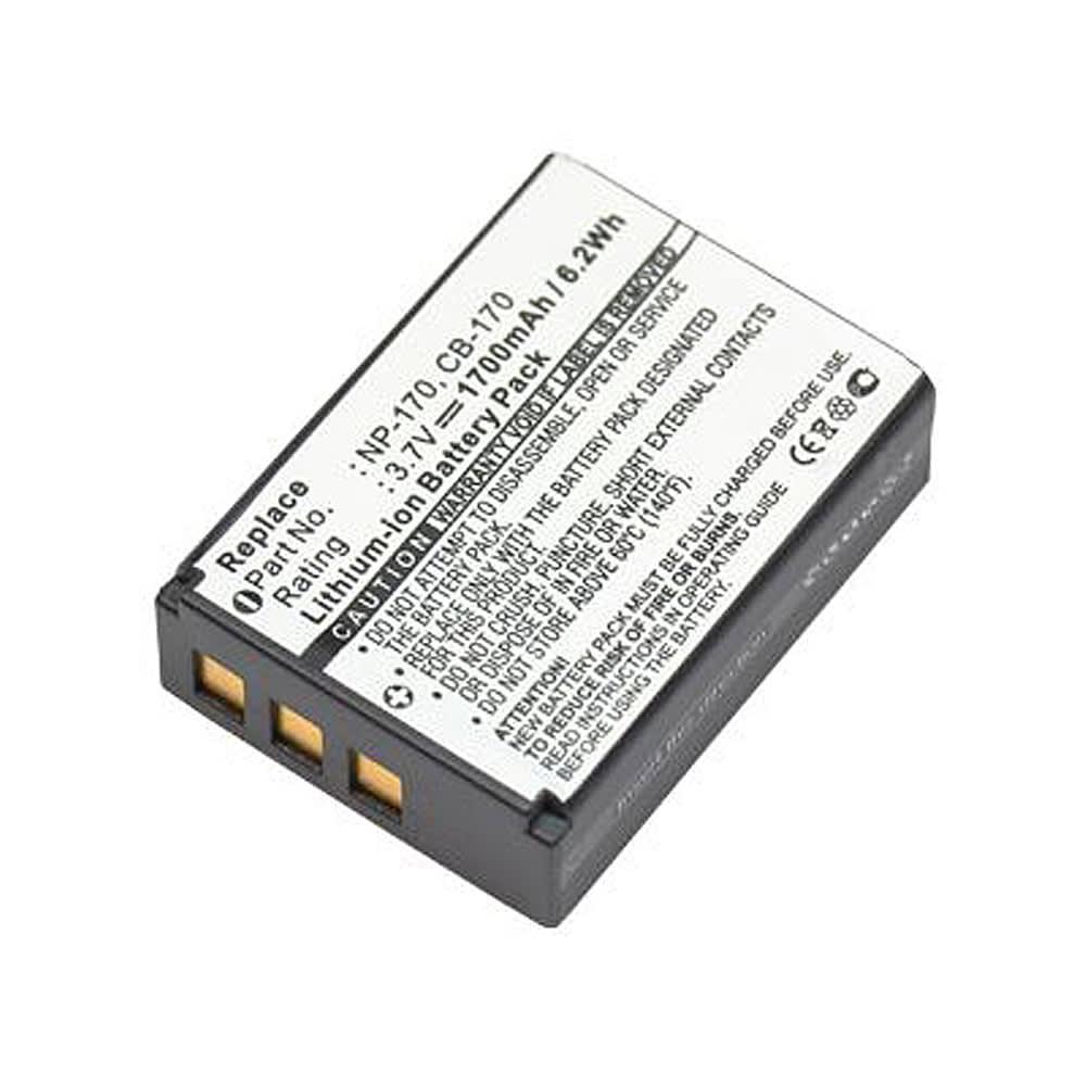 Akku kameraan Aiptek AHD H23, Easypix DVX5233, VideoShot C20, DV-23, Life P47011, X47023, HDV-D370,-Z60, Movieline SD23 - CB-170, NP-170, 1700mAh, vaihtoakku