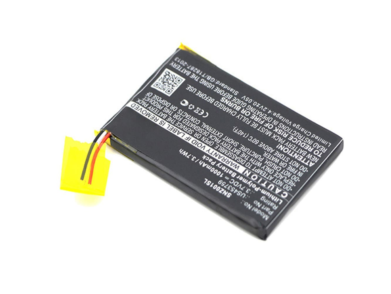 Batterie pour Sony NWZ-ZX1 - US453759 1000mAh