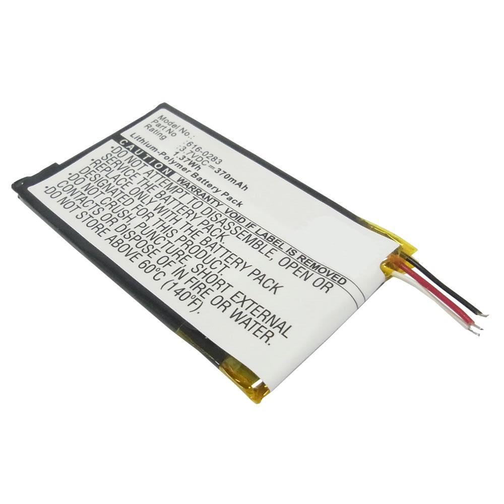 Batterie pour Apple iPod nano 2 Gen. A1199 - 616-0282,616-0283 (370mAh) Batterie de remplacement