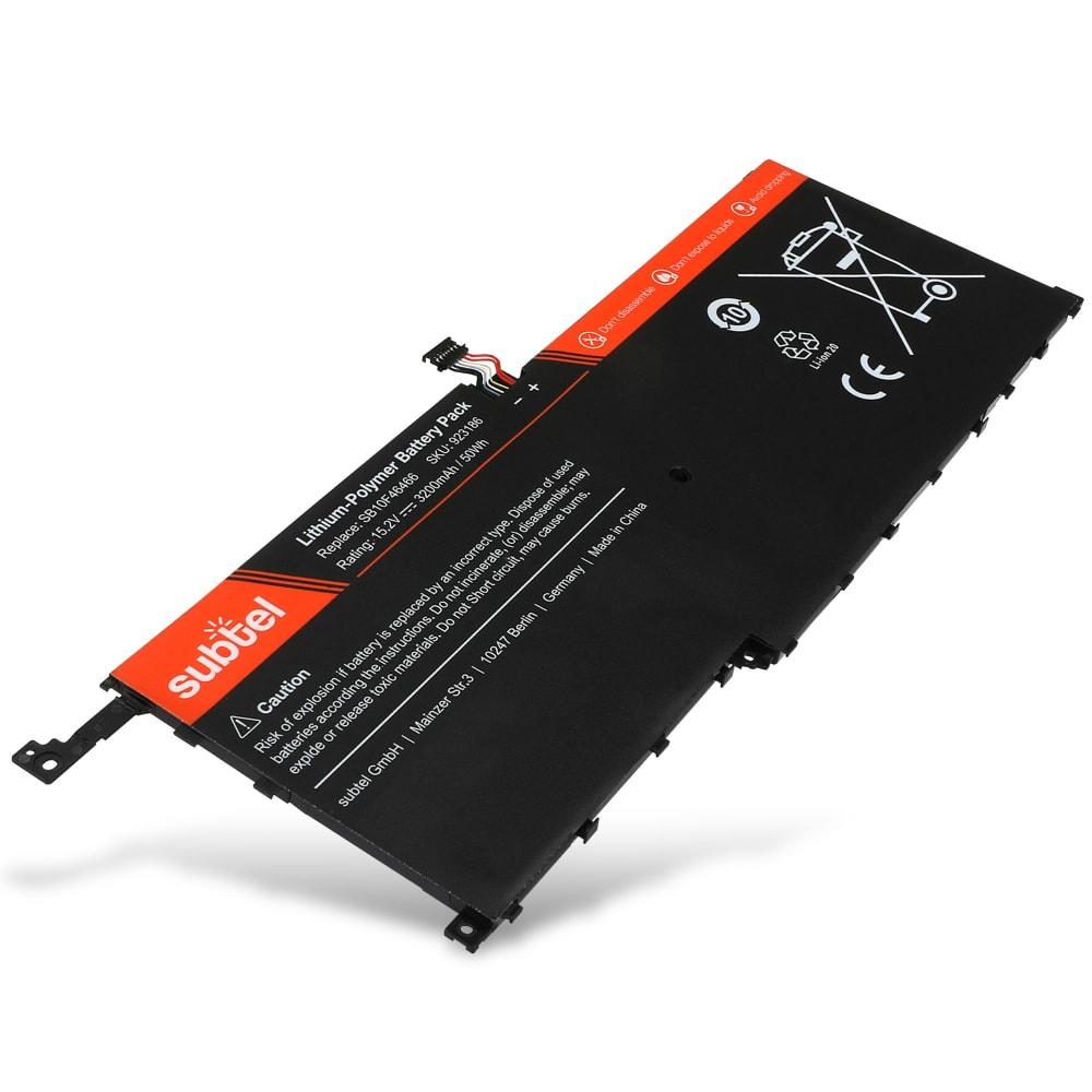 Batterie de remplacement pour ordinateur portable Lenovo ThinkPad X1 Carbon 2016 / ThinkPad X1 Yoga - SB10F46466 3200mAh