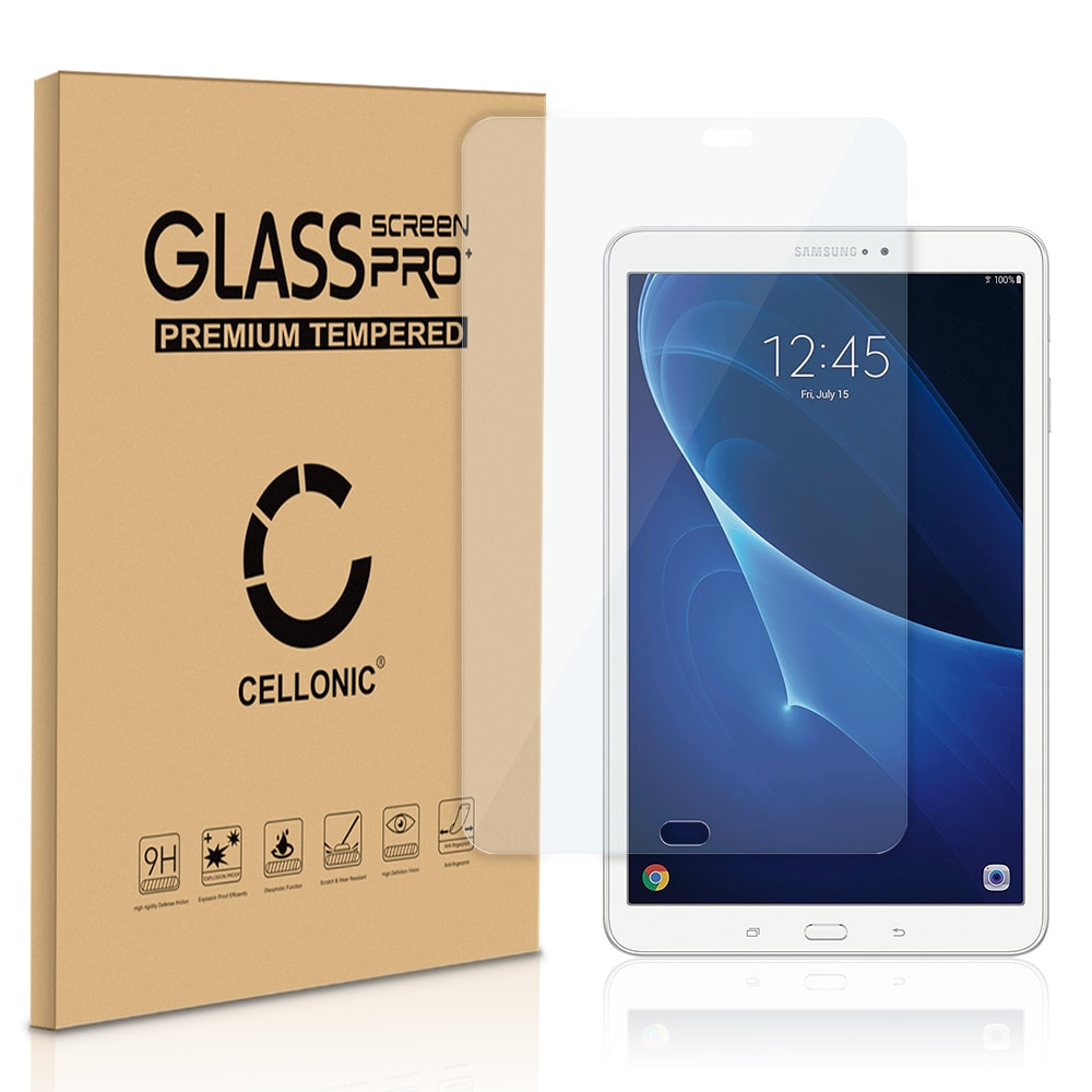 Protection d'écran en verre Samsung Galaxy Tab A 10.1 (SM-T580 / SM-T585) (2.5D Angles arrondis , 9H, 0,33mm, Full Glue) Verre trempé