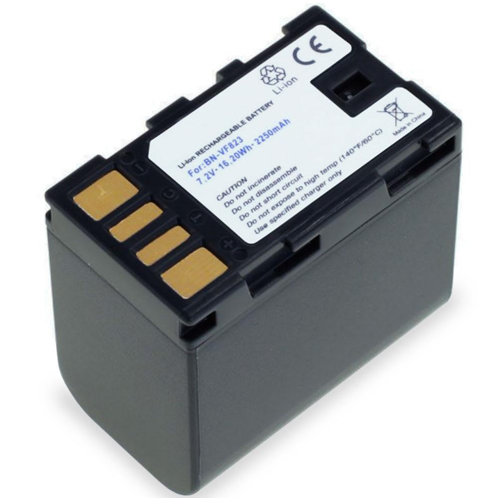 Accu voor JVC GY-HM100, GS-TD1, GZ-MG120, -MG130, -MG330, GZ-HD7, GZ-MS95 - BN-VF808,BN-VF815,BN-VF823 (2250mAh) vervangende accu