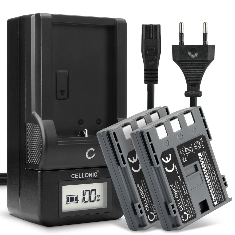 2x Batterie pour appareil photo Canon EOS 400D 350D Digital Regel XTi PowerShot G7 G9 S50 HG10 Legria HF R16 R106 MD235 VIXIA HV30 - NB-2L NB-2LH BP-2L5 700mAh + Chargeur CB-2L CBC-NB2 Batterie Remplacement