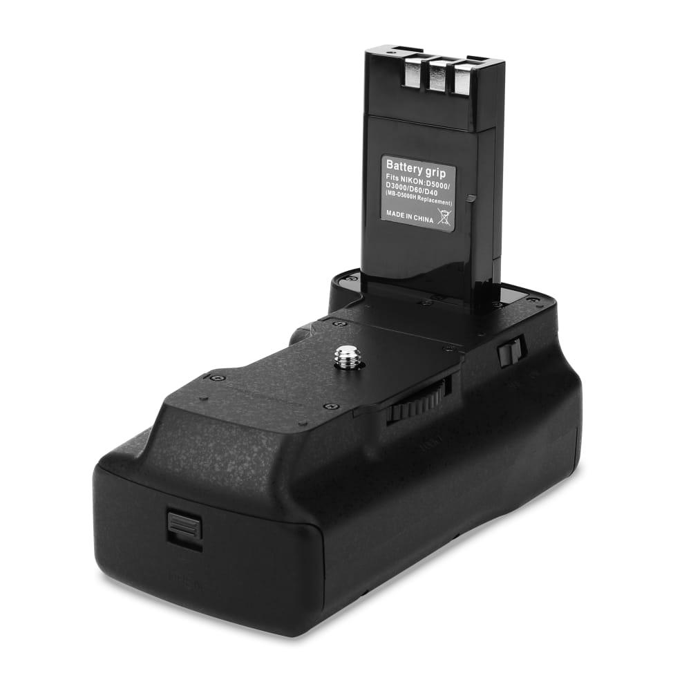 subtel® MB-D60 Batteriudvidelse til Nikon D5000, D3000, D40 lodret udvidelse, Multifunktionelt greb, Battery grip
