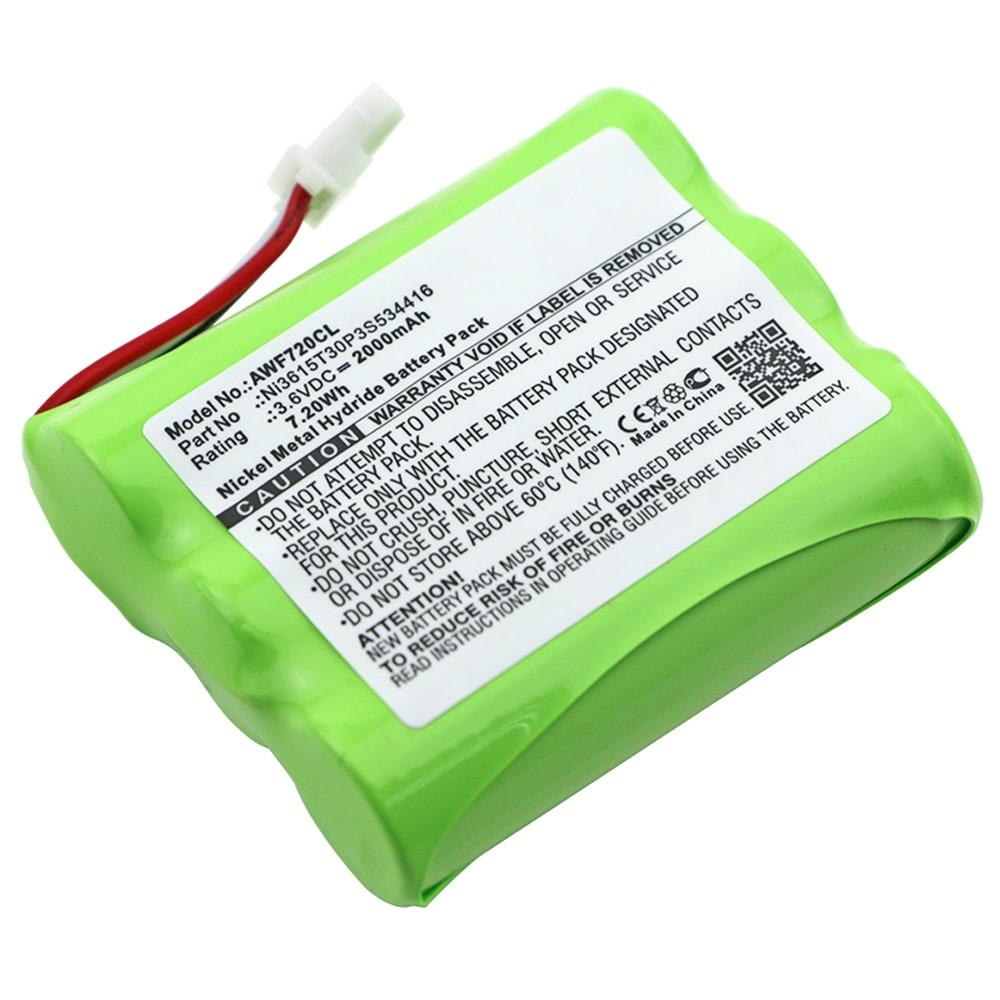 Ersatz Akku für AT & T WF720 - Telefonakku Ni3615T30P3S534416 2000mAh Ersatzakku, Batterie