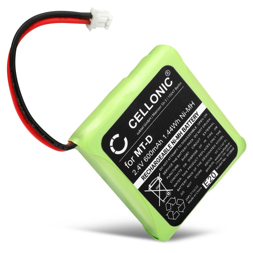 Batería para AVM Fritz Fon MT-D, Audioline Slim DECT 500 502 580 582, Telekom Sinus 201 / A201, Doro TH50 TH60 - 5M702BMX,GP0735,GP0747,GP0827 (600mAh) Batería de reemplazo, pila, Teléfono fijo