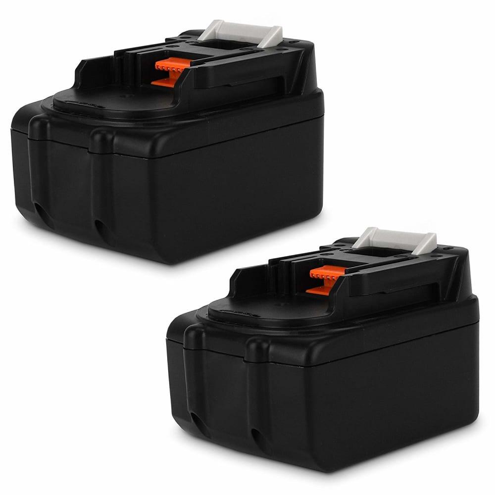 2x Batterie 18V, 3Ah, Li Ion pour Makita DMR115, DMR112, DDF482RFJ, DUR181Z - BL1850B, BL1850, BL1830, BL1860B, BL1815 batterie de rechange pour outils électroportatifs