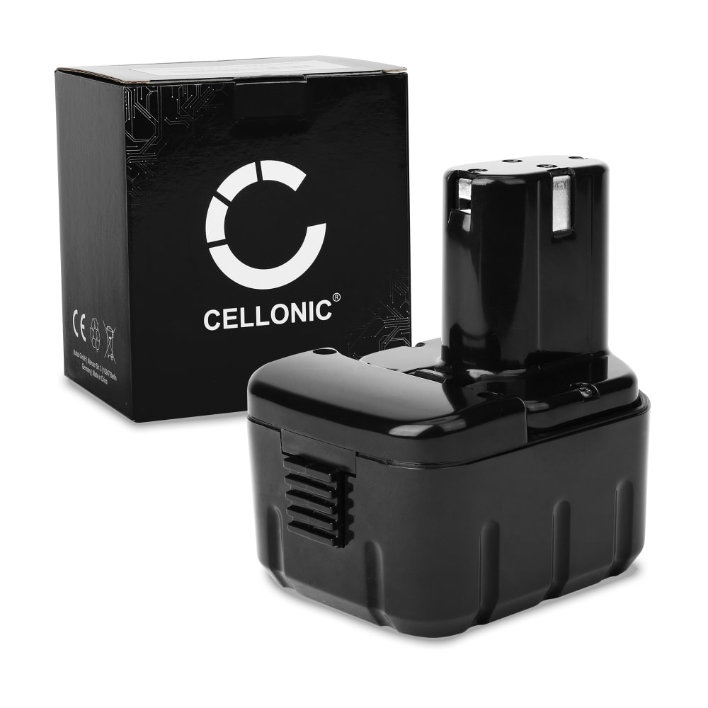 CELLONIC® 12V NiMH Power Tool Battery for Hitachi DS 12DM, FDS 12DVA, DS 12DVF2,DS 12DVF3, CR 10DL,UB12D 3Ah EB1220BL, EB1214S, BCC1215,EB1214L, EB1226HL, EB1230HL Battery Replacement