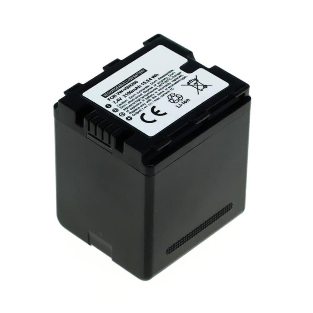 Kamera Akku für Panasonic HC-X920, -X800, -X900, -X909, -X929, HDC-HS900, HDC-SD800, -SD900, -SD909, HDC-TM900, HC-X810, X900M - VW-VBN130,VW-VBN260 Ersatzakku 2100mAh VW-VBN130,VW-VBN260, Batterie