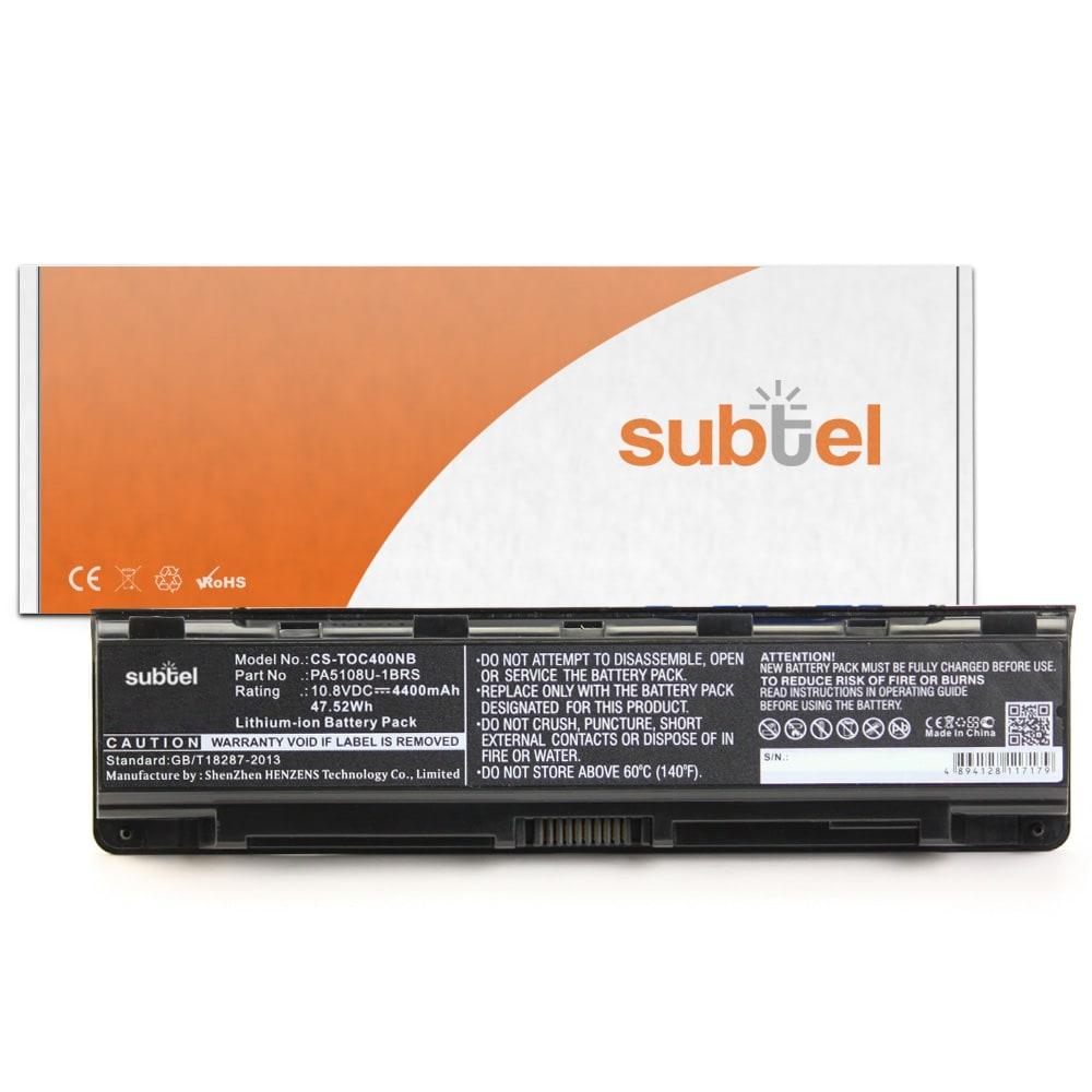 Batterie de remplacement pour ordinateur portable Toshiba Satellite C50 / C70 / C75-D / L70-A / P70-B / S70 / Qosmio X70-B - PA5108U-1BRS 4400mAh
