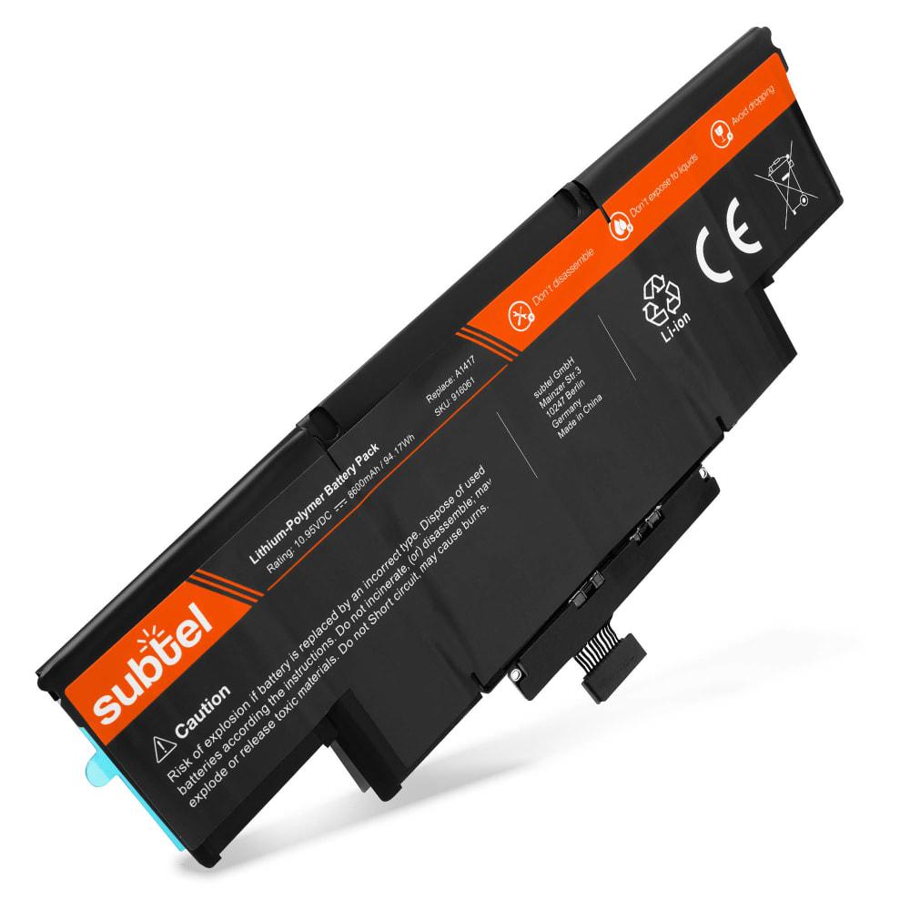 Laptop batterij voor MacBook Pro 15 Retina - A1398 - (Mid 2012 / Early 2013) - A1417 8600mAh vervangende accu notebook
