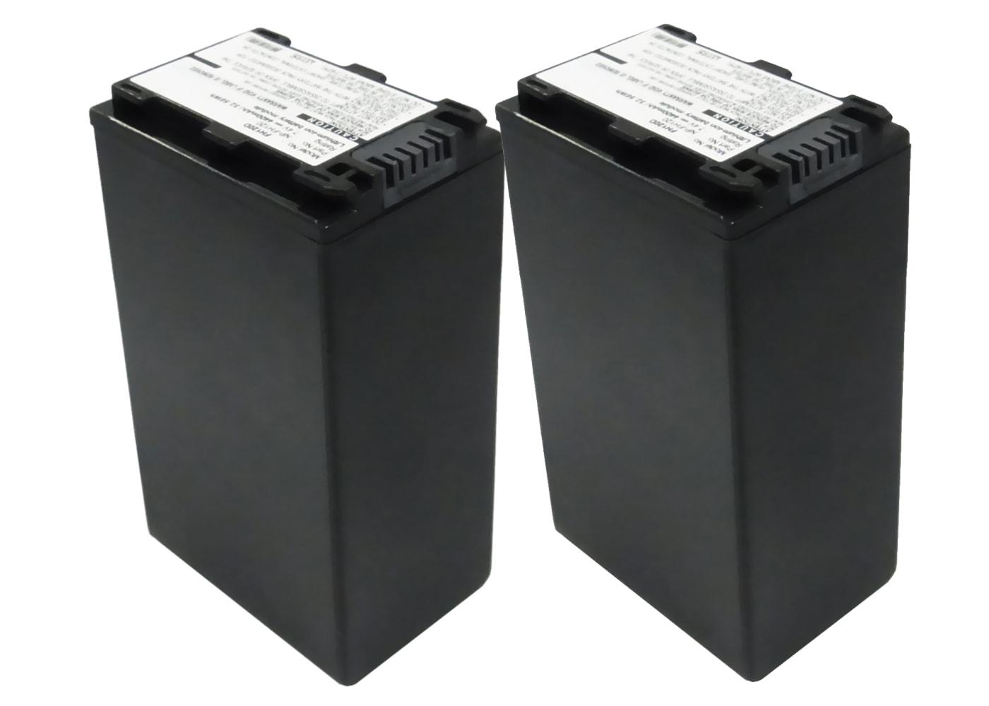 2x Batterie pour appareil photo Sony DCR-SR32 -SR35 -SR37 DCR-SX30 HDR-SR11 HDR-SR12 HDR-CX105 HDR-HC9 DCR-HC23 - NP-FH40 -FH50 -FH60 -FH70 4400mAh Batterie Remplacement