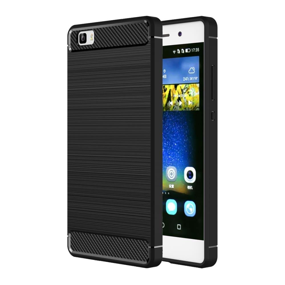 Backcover für Huawei P8 Lite (2016) - TPU, schwarz Tasche, Case, Etui, Hülle