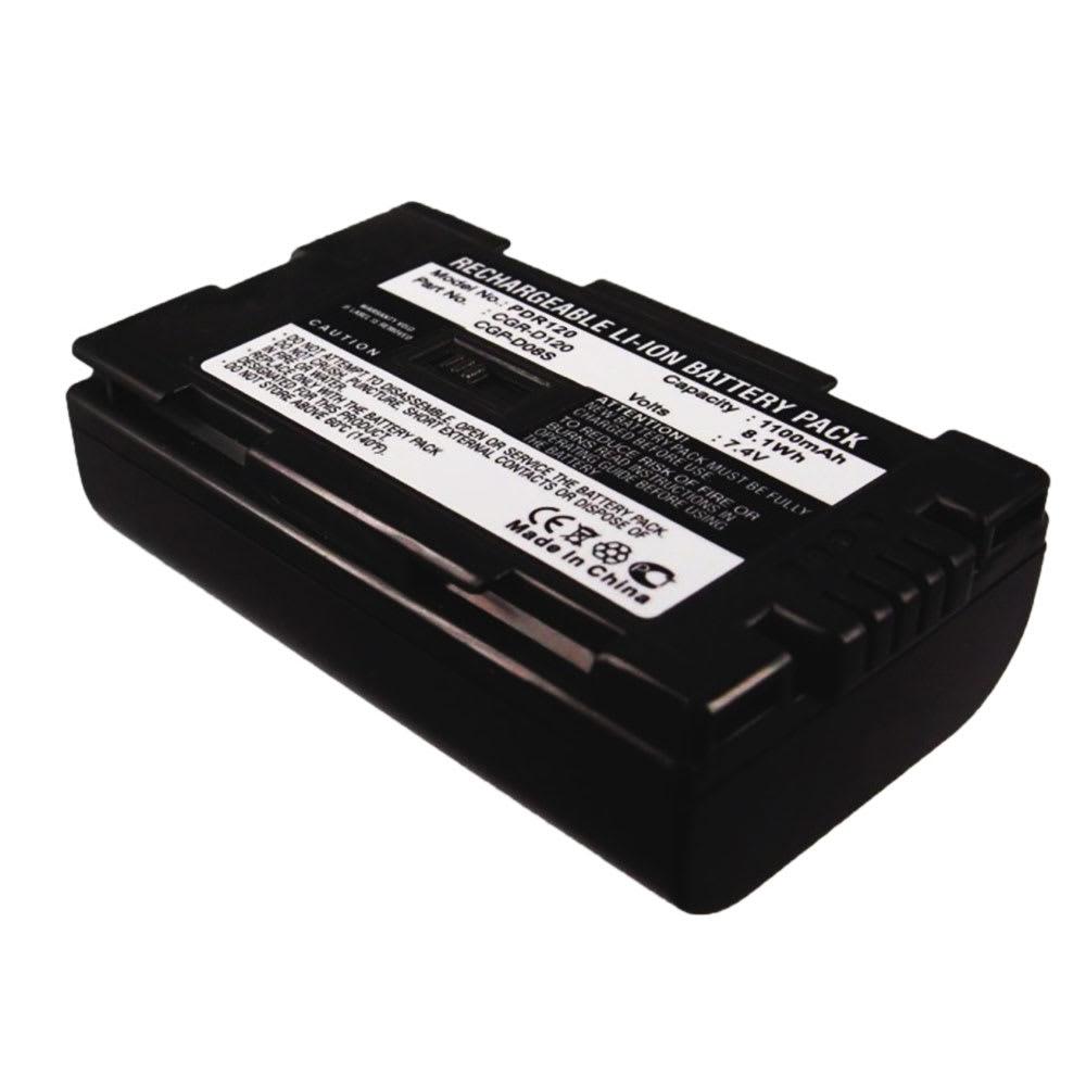 Akku kameraan Panasonic AG-DVX100 NV-GS11 -GS1 -GS5 NV-DS60 -DS65 -DS38 -DS30 -DS29 -DS27 -DS15 -DS11 NV-GX7 AG-DVC7 NV-MX500 -MX300 PV-GS9 - CGD-D54 CGR-D815, 1100mAh, vaihtoakku
