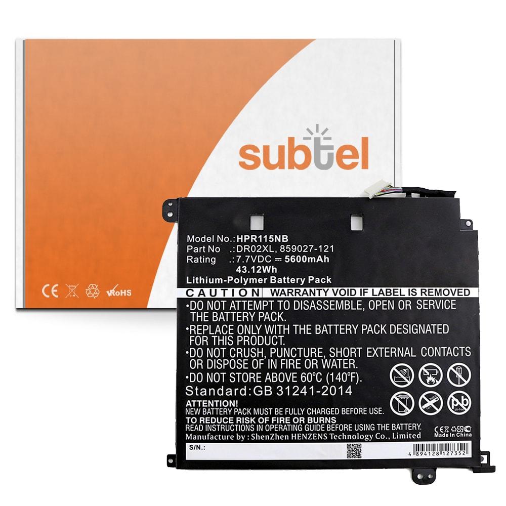 Batterie de remplacement pour ordinateur portable HP Chromebook 11 G5 - DR02XL 5600mAh