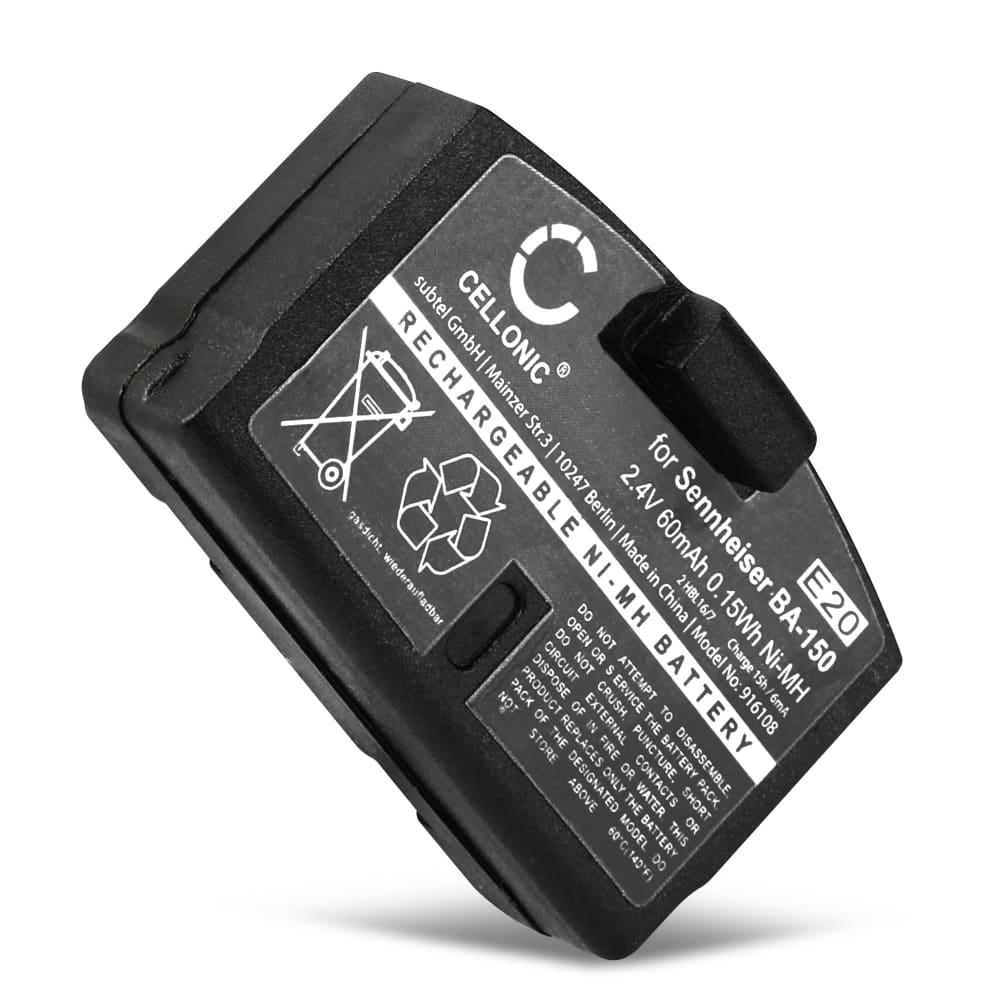 CELLONIC® Headphone Battery for Sennheiser IS 150 RI 150, Set 250 RI 250, IS 300 RI 300, RS 45 HDR 45, RS 85 HDR 85, RI 50 Set 50 TV, RI 55 Set 55 TV, RI 810 Set 810, RR 820 Set 820, RS 2400 BA 150,BA 151,BA152 Battery Replacement 60mAh