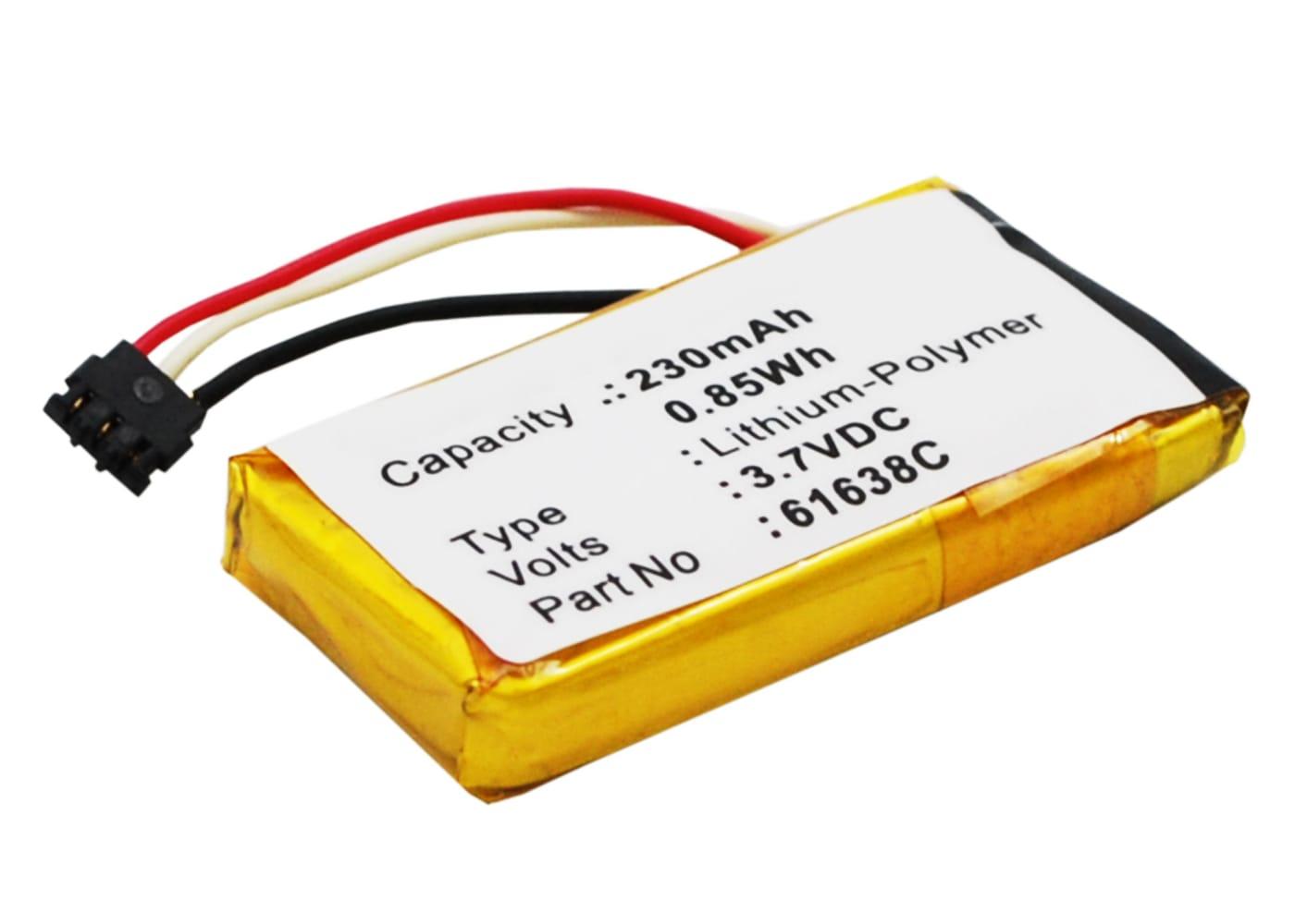Batterie pour téléphone fixe Motorola IT6-1, Motorola IT6-2, Motorola DECT 6.0 - 61638C,SNN5904A 230mAh