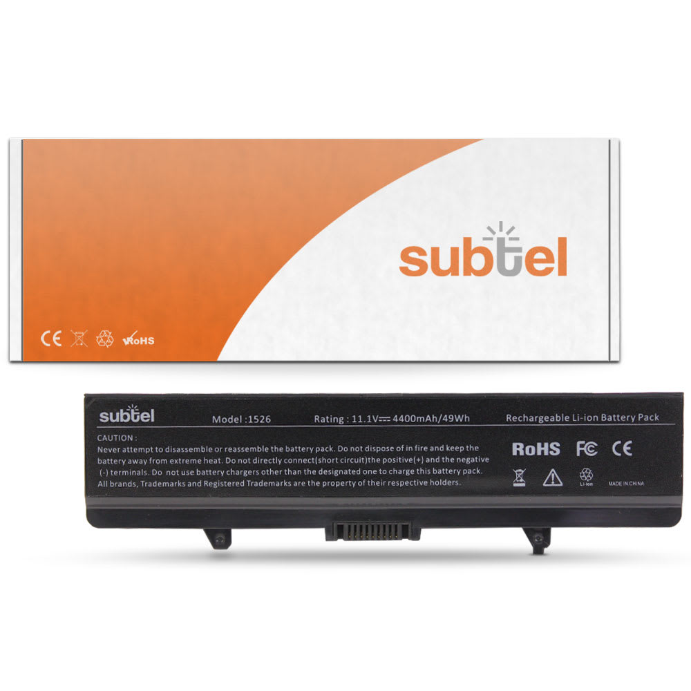 subtel® Laptop Battery for Dell Inspiron 14 (1440) / Inspiron 17 (1750) G555N 4400mAh Notebook Replacement Battery Power Bank