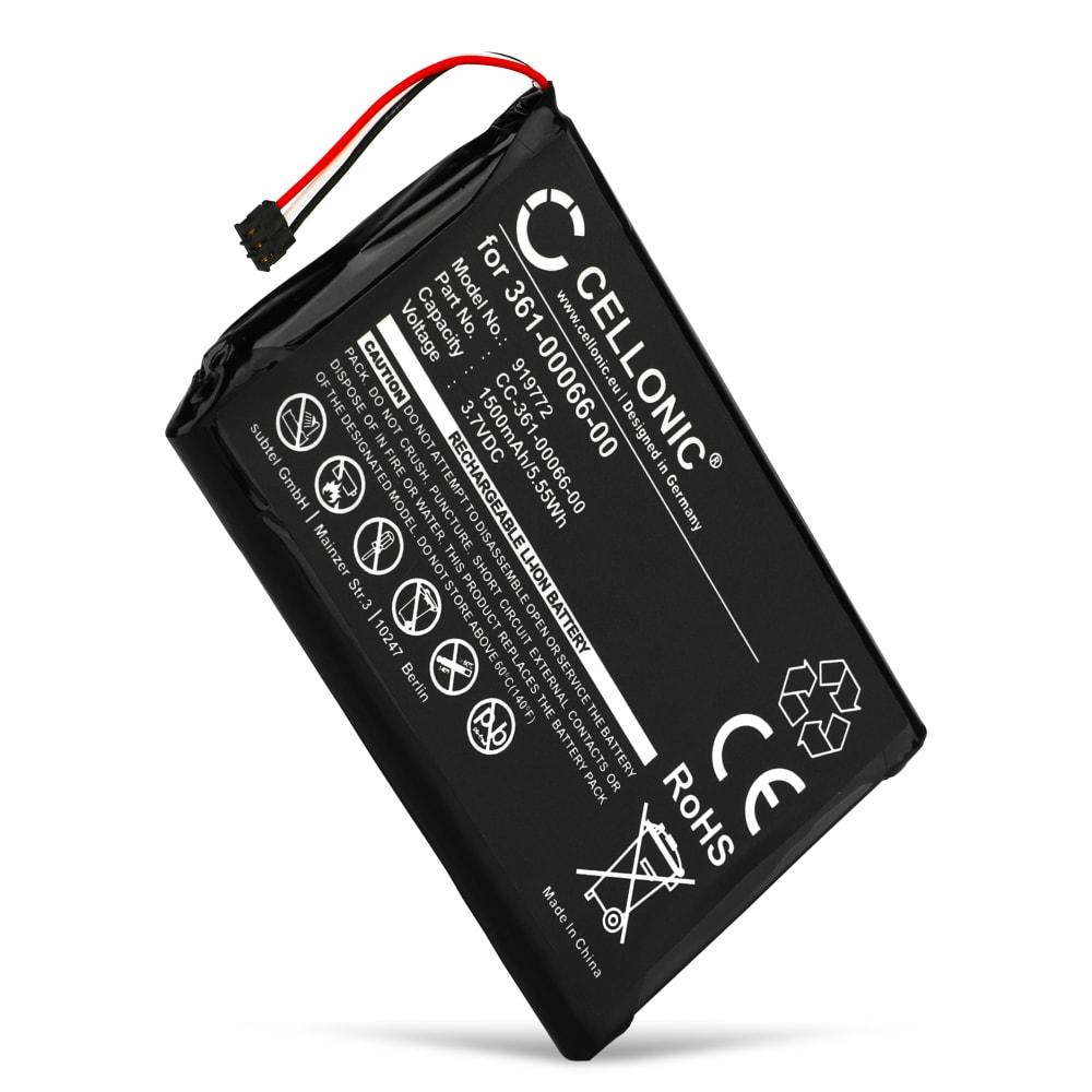 Batterie pour navigateur GPS Garmin Camper 760, Nüvi 2689, Nüvi 2757, Nüvi 2797, Dezl 760, Nüvi 2699, NüviCam - Garmin 361-00066-00, 361-00066-10 1500mAh