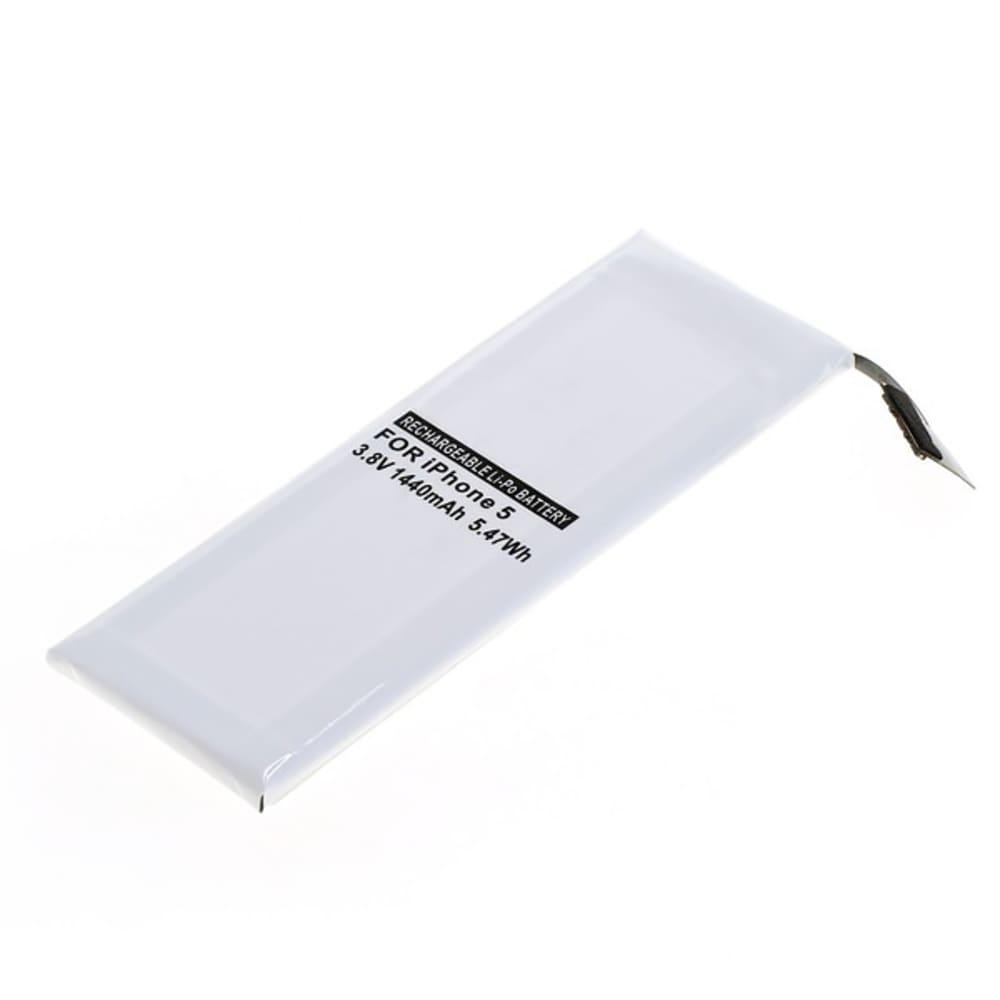 subtel® batteri til mobiltelefoner Apple iPhone 5 (A1429 / A1428 / A1442) - 616-0610, 616-0613 1440mAh - udskift dit mobilbatteri og få mere ud af din mobil