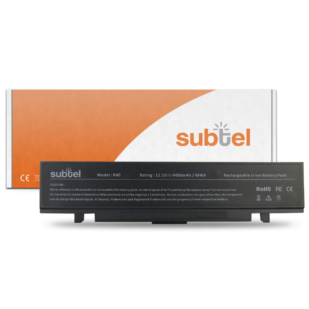 subtel® Laptop Battery for Samsung E152 / E172 / M60 / P210 / P460 / P50 / P500 / P560 / P60 / Q210 / Q310 AA-PB2NC6B 4400mAh Notebook Replacement Battery Power Bank