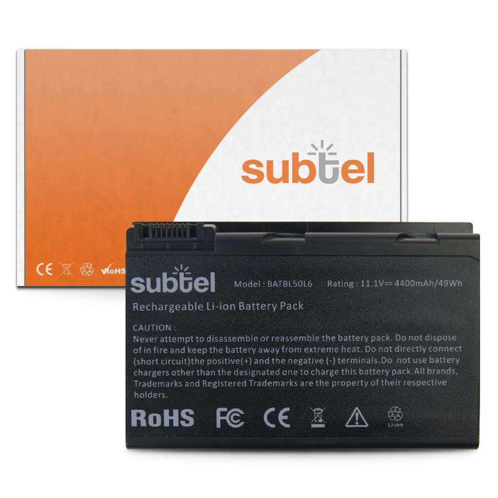 Batteri for Acer Aspire 3100 / 3690 / 5100 / 5110 / 5610 / 5630 / 5650 / 5680 / Extensa 5200 - BATBL50L6 (4400mAh) reservebatteri