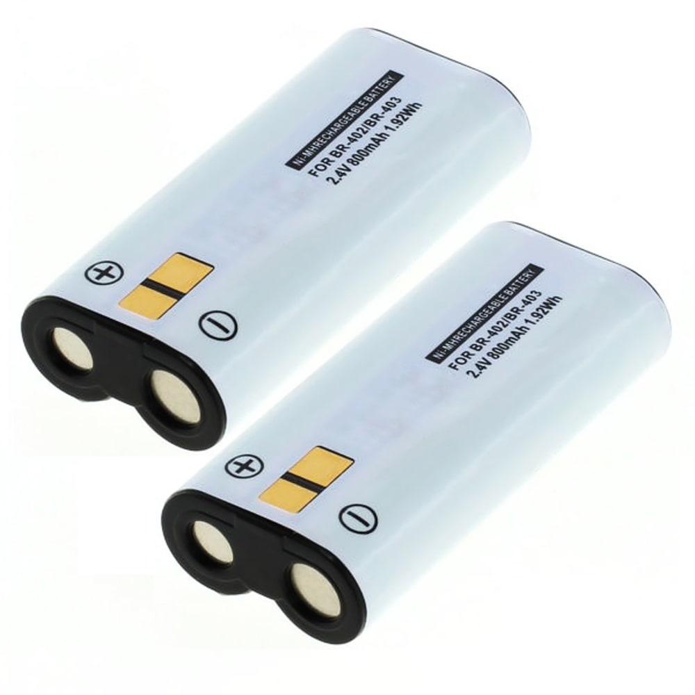 2x Batterie pour appareil photo Olympus DS-4000 / DS-3300 / DS-2300 / DS-5000 - BR-402, BR-403 800mAh BR-402, BR-403 Batterie Remplacement