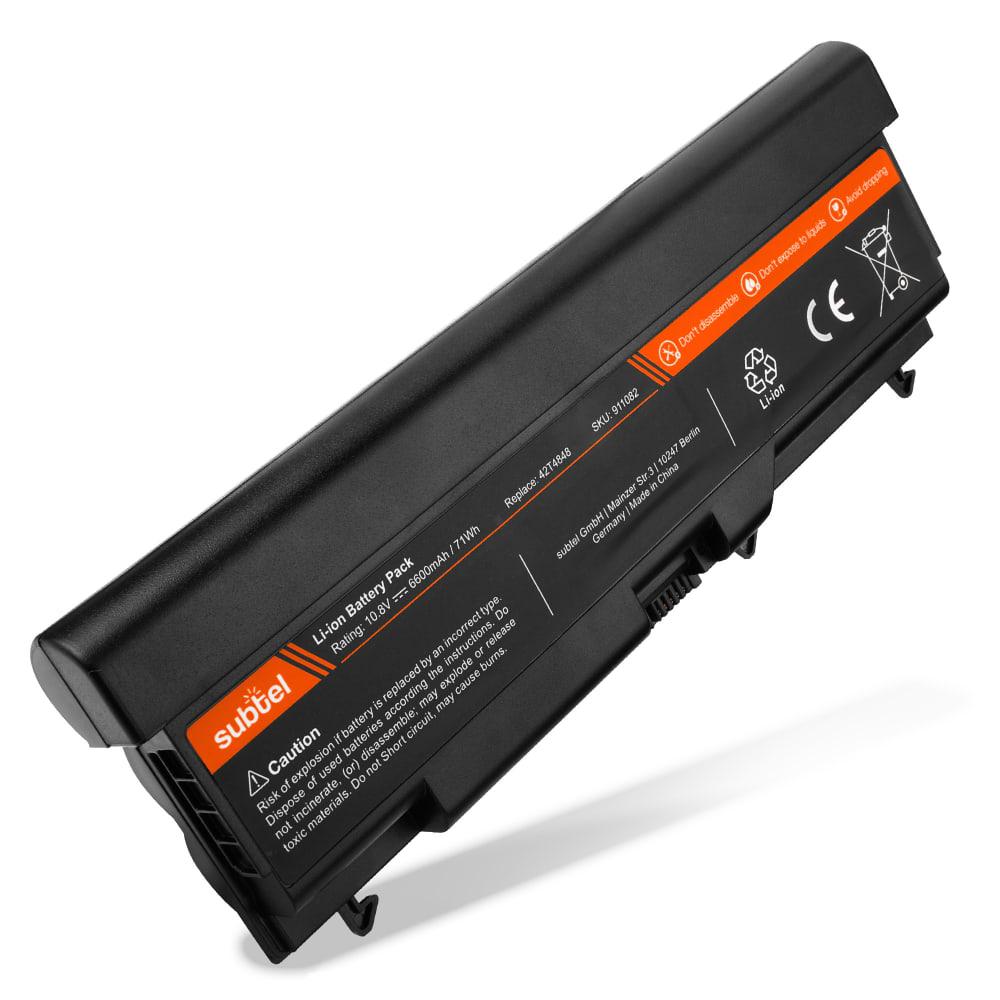 bærbar batteri til Lenovo ThinkPad Edge 14 / Edge 15 / ThinkPad L412 / L512 / SL410 / SL510 - 42T4848 (6600mAh) Notebook udskiftsningsbatteri og ekstra batteri til computer