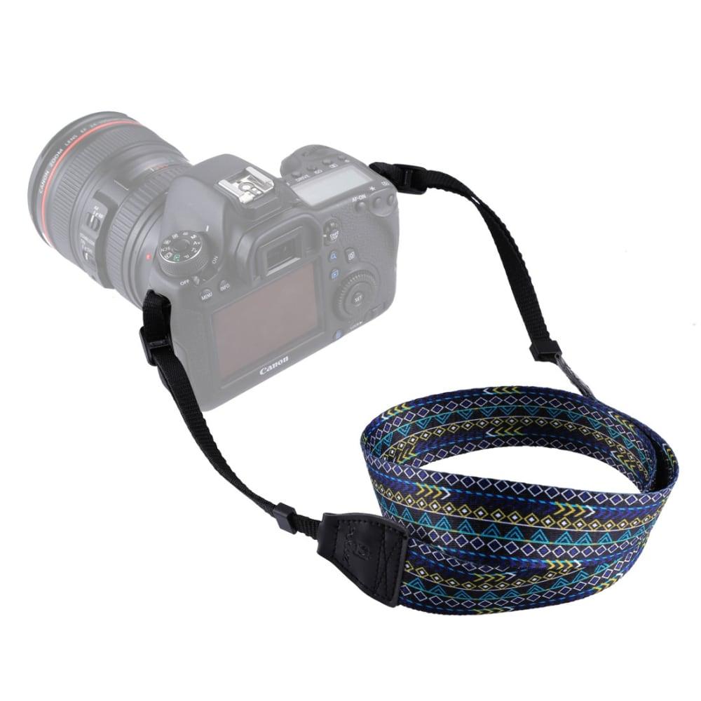 Universal camera strap with loop fastening, Vintage Purple (max 1.35m length-adjustable), belt