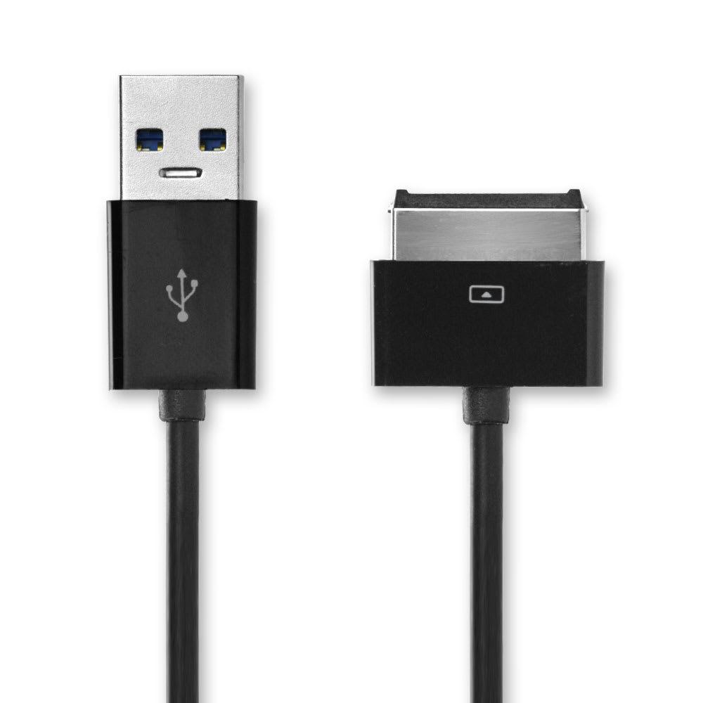 USB-johto tablettiin ASUS Eee Pad Slider SL101 / Transformer TF101 / TF101G / Prime TF201 / Pad TF300T - , 1m latausjohto,Musta USB-kaapeli