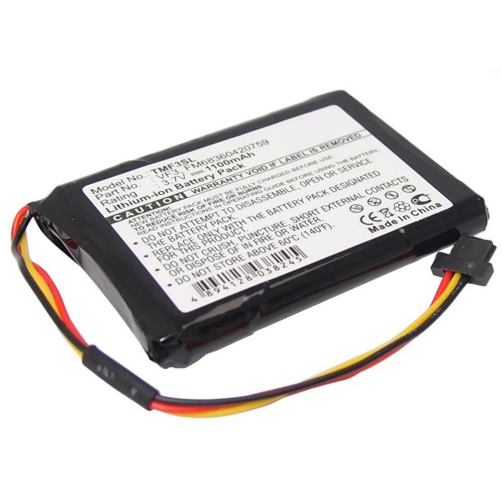 subtel® GPS Battery for TomTom GO XL 310 GO XL 330 Quanta VF3,VF3F, FM68360420759 1100mAh SatNav Sat Nav Battery Replacement