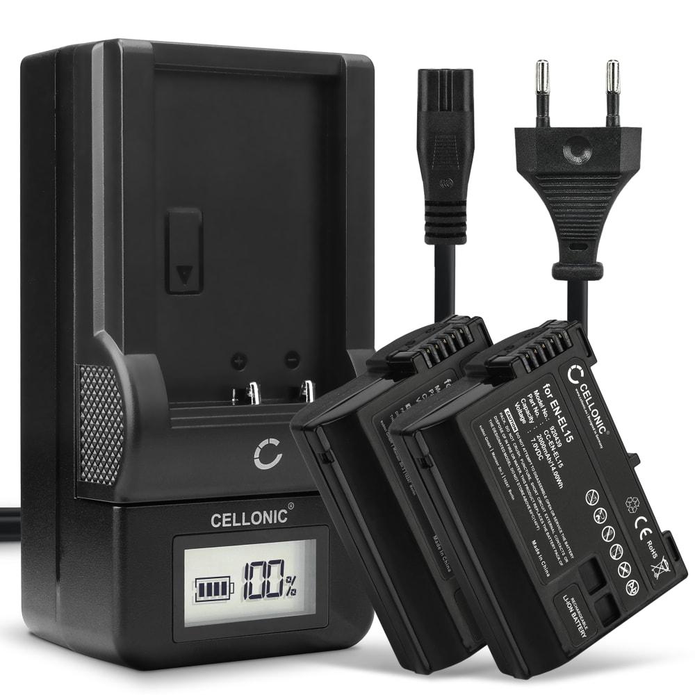 2x Batterie pour appareil photo Nikon Coolpix 4300 Coolpix 4500 Coolpix 4800 Coolpix 5000 Coolpix 5400, Minolta DiMAGE A200 - EN-EL1 NP-800 750mAh + Chargeur MH-53 BC-900 Batterie Remplacement