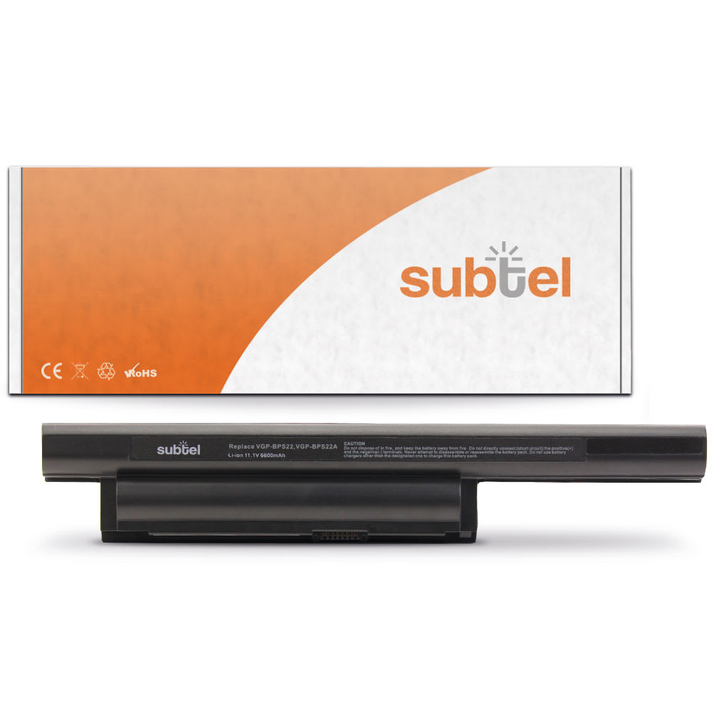 subtel® Laptop Battery for Sony VAIO VPC-E VGP-BPS22 6600mAh Notebook Replacement Battery Power Bank