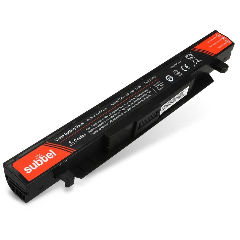 Batterie de remplacement pour ordinateur portable Asus ROG GL552 / ZX50 / FX-PLUS - A41N1424 2200mAh
