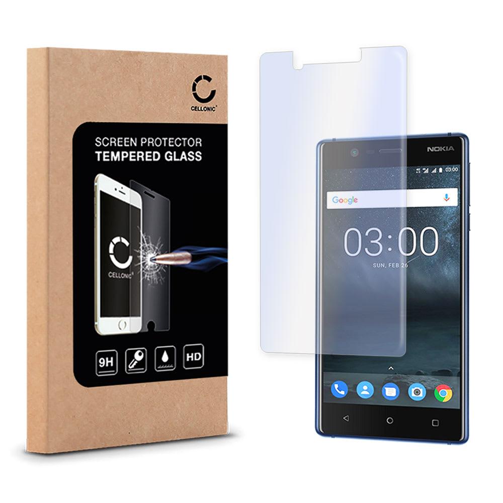 Panzerglas für Nokia 3 (2017) - Tempered Glass (HD-Qualität / 2.5D / 0,33mm / 9H)