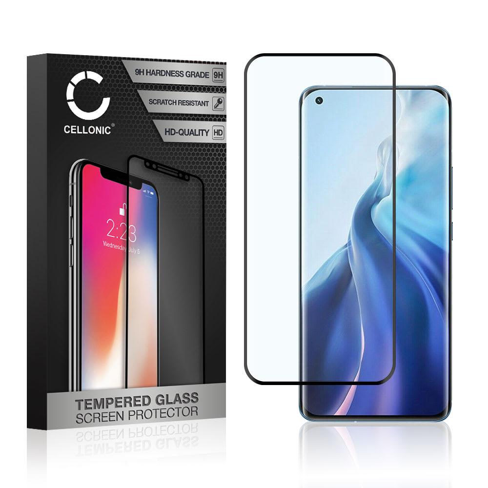 Displayschutzglas Xiaomi Mi 11 (3D Full Cover, 9H, 0,33mm, Full Glue) Displayschutz Tempered Glass