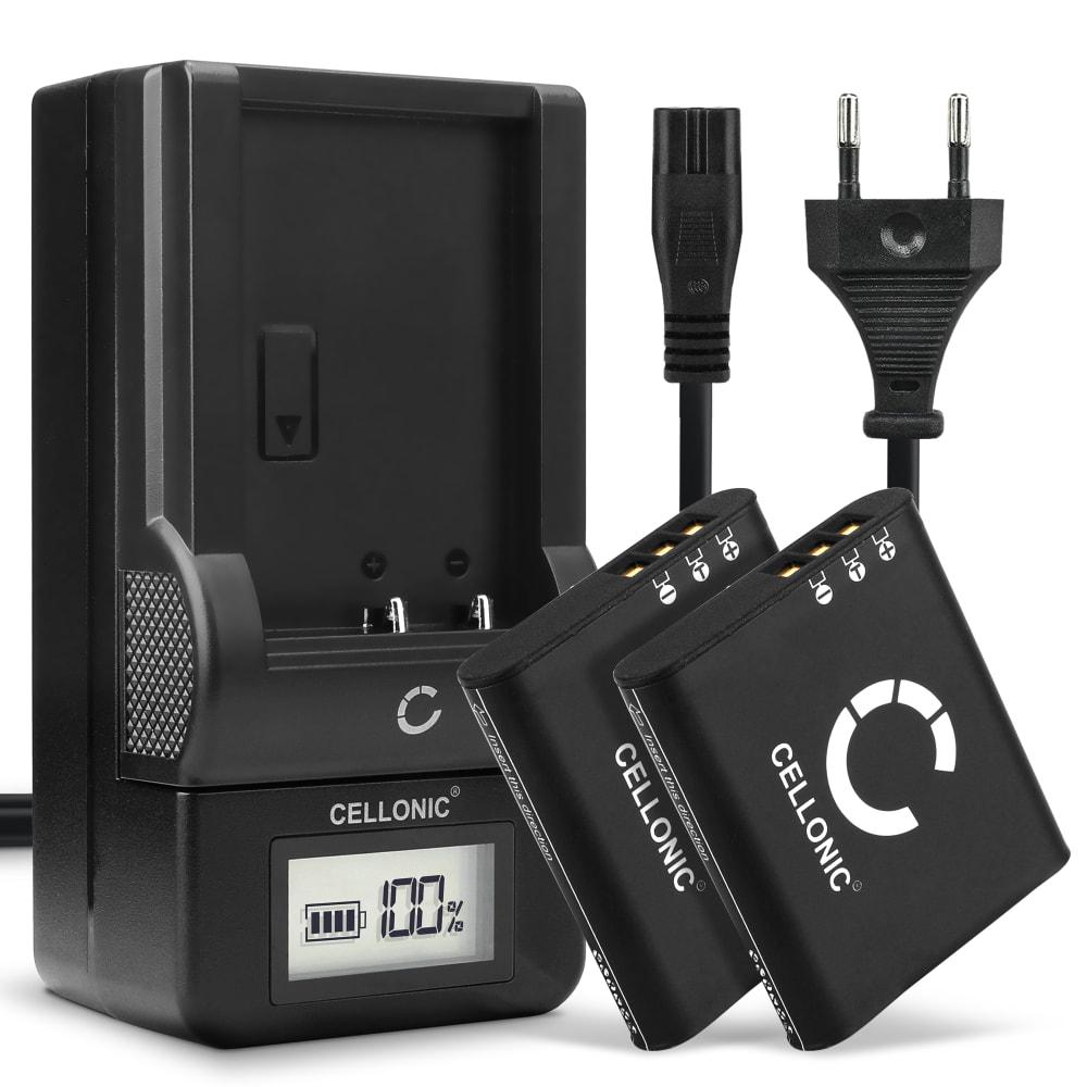 2x Batterie pour appareil photo Olympus Stylus XZ-2 Stylus SH-2 Stylus SH-60, TOUGH TG-1, TG-5, TG-6 - UC-90 1200mAh + Chargeur Li-90B, Li-92B Batterie Remplacement