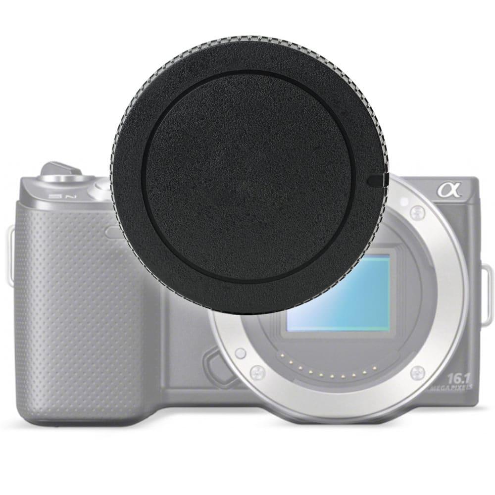 Capuchon du boîtier Body Cap pour Sony ILCA-77M2Q (A77 II, Alpha 77II), A99 II, SLT-A33 (Alpha 33), SLT-A55, A57, A58, SLT-A65, SLT-A77 II, NEX-3N (ALC-B55), Baïonnette Couvercle, Capot de protection Sony / Minolta A-Mount