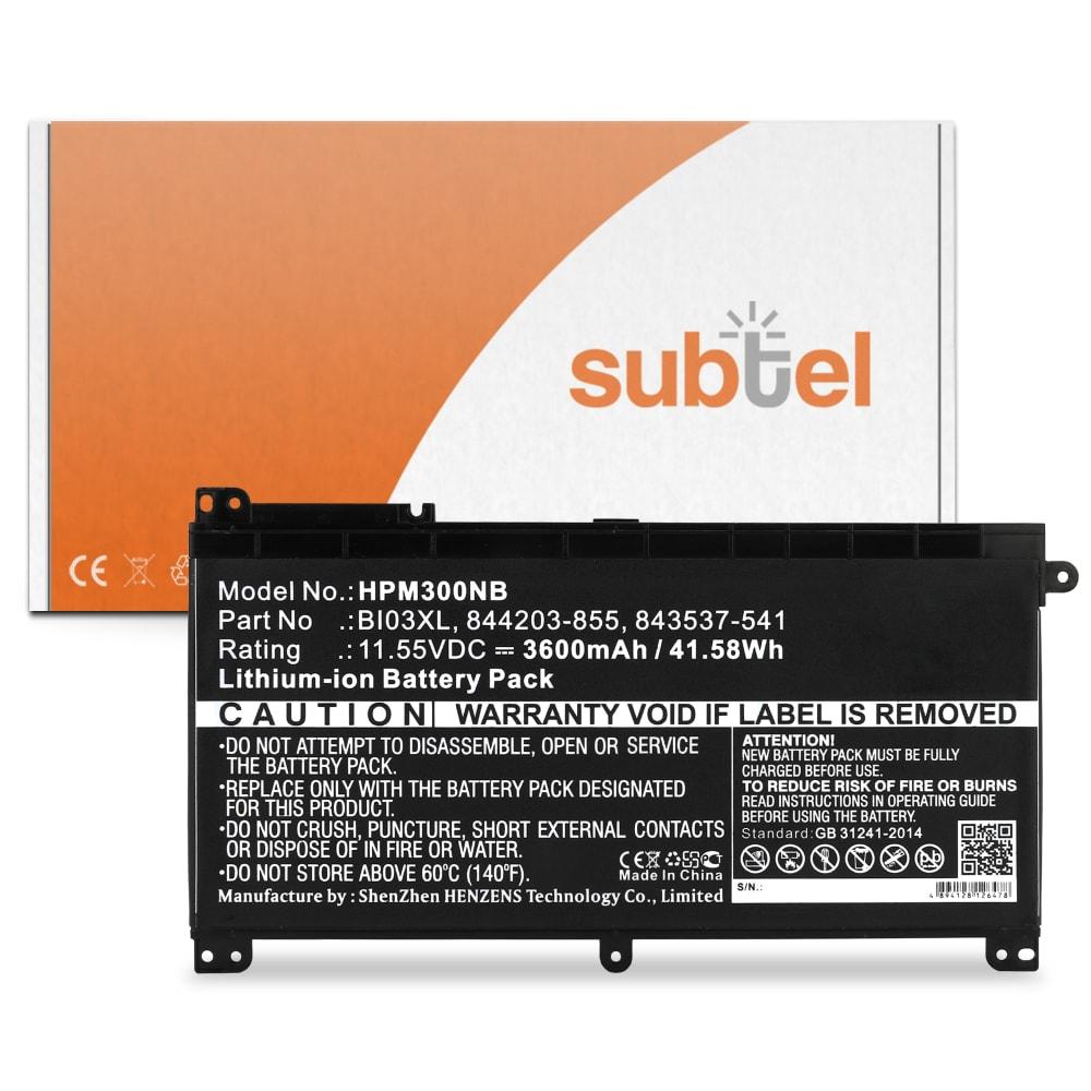 Batterie de remplacement pour ordinateur portable HP Pavilion x360 11, x360 13, x360 14 / Stream 14 - ON03XL, BI03XL 3400mAh
