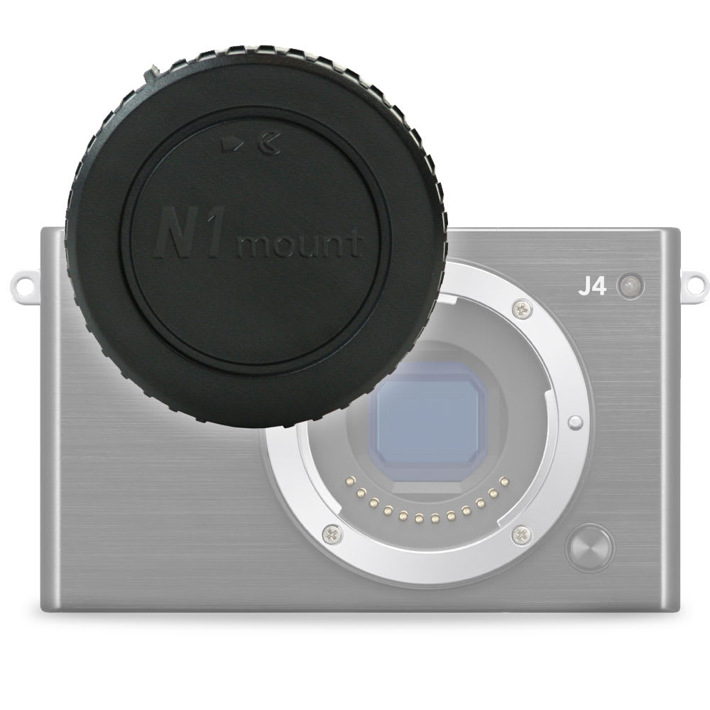 Gehäusedeckel Body Cap für Nikon 1 AW1, Nikon 1 J1 1 J2 1 J3 1 J4 1 J5, Nikon 1 S1 1 S2 1 V1 1 V2 1 V3 (Nikon BF-N1000), Bajonettverschluss Kappe, Schutzdeckel Nikon 1 Mount