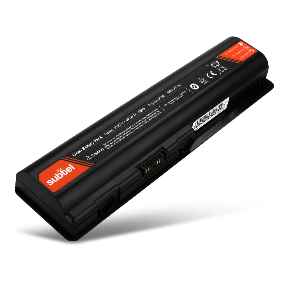 Battery for HP Pavilion dv4-1000 / dv4-2000 / dv5-1000 / dv6-1000 / dv6-2000 - EV06 (4400mAh) Spare Battery Replacement