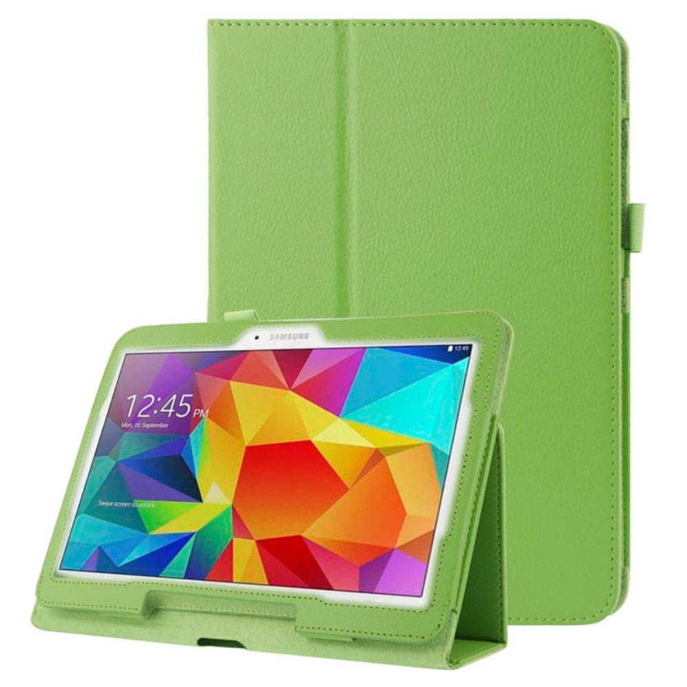 Étui pour Samsung Galaxy Tab 4 10.1 (SM-T530 / SM-T531 / SM-T533 / SM-T535) - Cuir synthétique, vert Housse Pochette