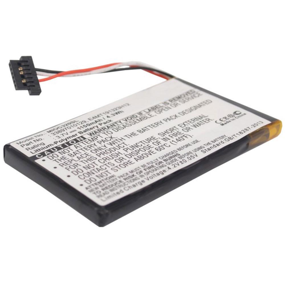 Batterie pour navigateur GPS Mitac Mio C320 Mio C320b Mio C323 Mio C520 Mio C620 Mio C620t Mio C700 - 02739004E 33897010129 BP-LX1320/11-B0001 SN E4NT191323H12 1150mAh
