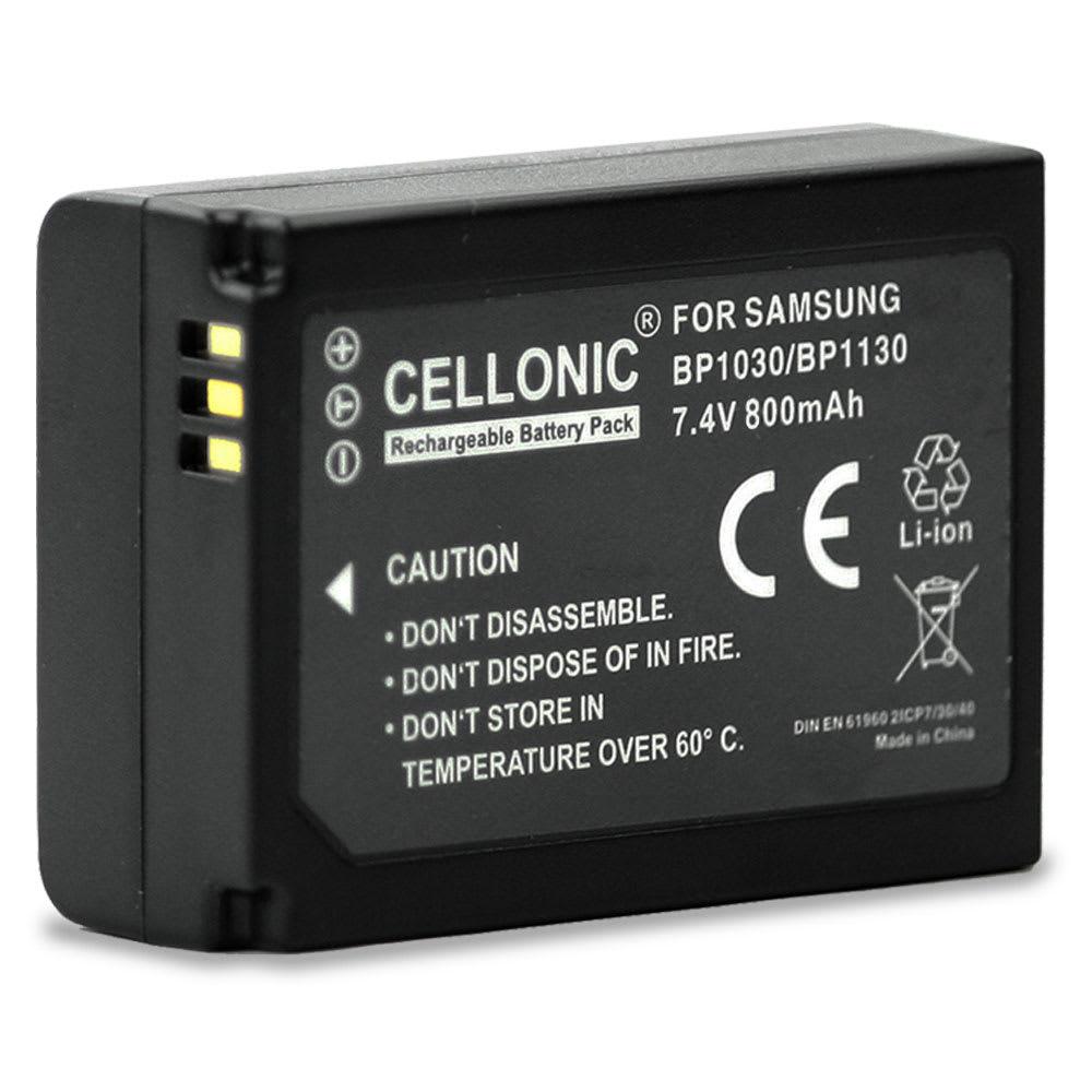 Batterie pour appareil photo Samsung NX500 NX300 NX300M NX1000 NX2000 NX1100 NX200 NX210 NX310 - BP1030 / BP1130 800mAh BP1030,BP1130 Batterie Remplacement