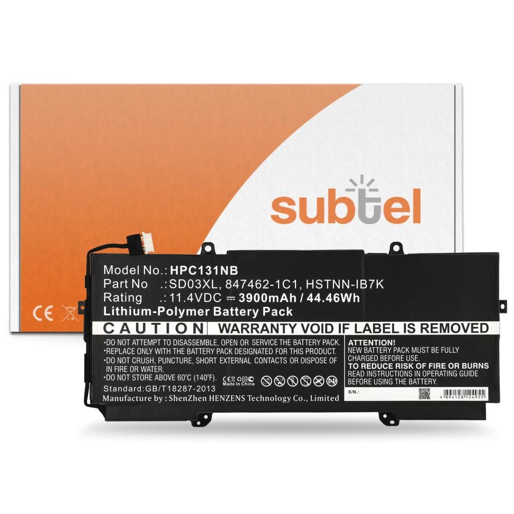 Akku für HP Chromebook 13 G1 - Notebookakku SD03XL 3900mAh Ersatzakku, Laptopakku