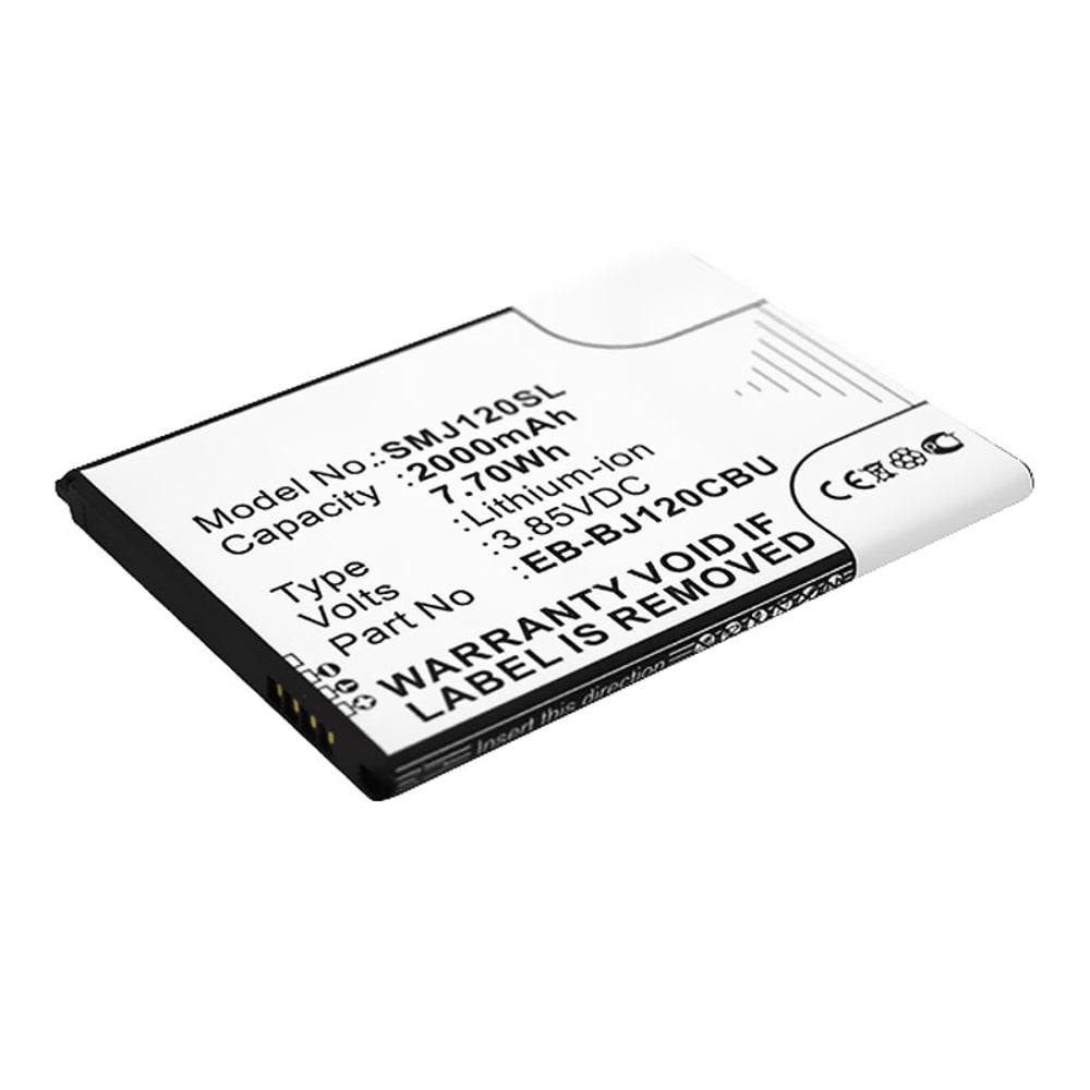 Batterie pour téléphone portableSamsung Galaxy J1 (2016 / SM-J120) - EB-BJ120CBU, 2000mAh interne neuve , kit de remplacement / rechange