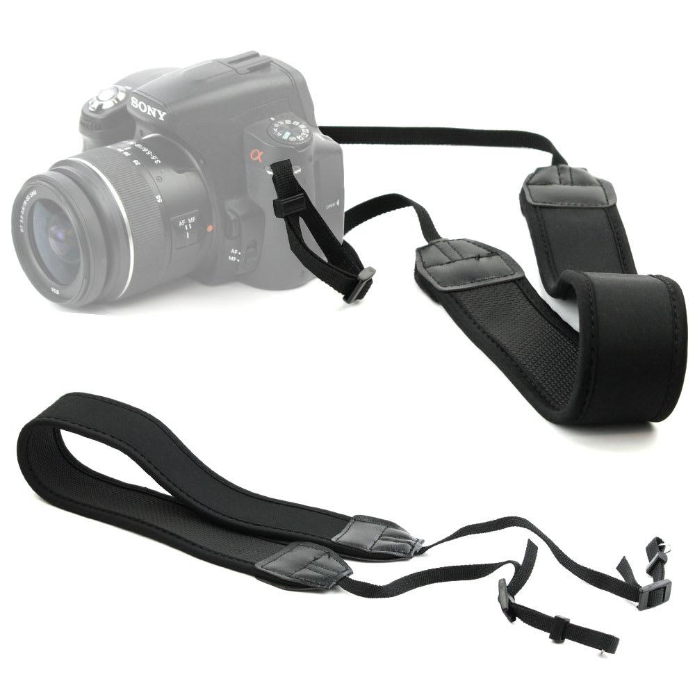 Tracolla per fotocamera per Canon EOS, Panasonic Lumix, Nikon D, Sony Alpha, etc, ca. 110cm, Fissaggio Loop, Nylon