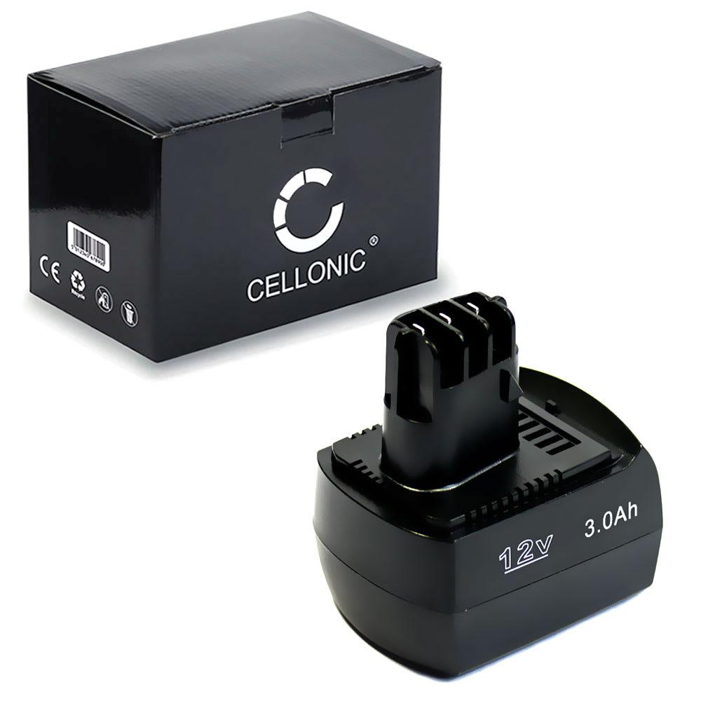 Batteri til elværktøj 12V, 3Ah, NiMH til Metabo BZ 12 SP, BSZ 12,BS12 SP, BSZ 12 Impuls, SSP12,ULA 9.6-18, BSZ12 Premium - 6.25473, 6.25474,6.02151.50 udskiftsningsbatteri