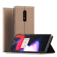 Case OnePlus 6 PU Leather Golden Case Cover Wallet Case Flip Case Phone Cover Shockproof Flip Cover
