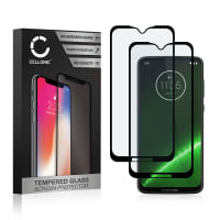 2x Panzerglas Motorola G7 Plus (3D Case-friendly, 9H, 0,33mm, Full Glue) Displayschutz Tempered Glass